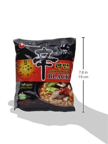 Nong Shim Instantnudeln Shin Ramyun Black, 4 x 130 g - 6