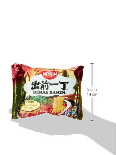 Nissin Demae Ramen Spicy, 5er Pack (5 x 100 g Beutel) - 5