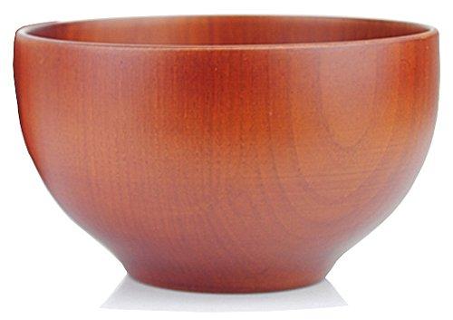 Traditionelle japanische Reisschale bzw. Suppenschale aus Kastanienholz - 12 cm - für Reis, Suppen, Desserts, Knabbereien (Braun) - 1