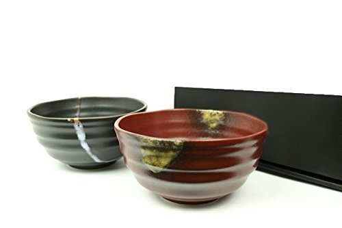 Udon und Soba japanische Suppenschüssel NAMI 2er Set Japan Suppenschalen Ø 16,2 cm, H. 8,3 cm -
