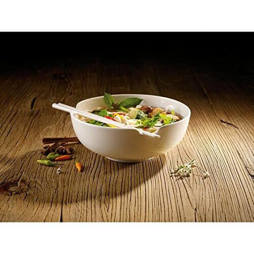 Villeroy & Boch Soup Passion Asia Schale / Praktische Suppenschüssel mit Stäbchen-Ablage / Spülmaschinenfest / Für 1 Person / Ø 20,5cm - 2