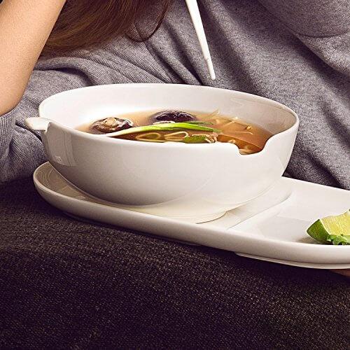 Villeroy & Boch Soup Passion Asia Schale / Praktische Suppenschüssel mit Stäbchen-Ablage / Spülmaschinenfest / Für 1 Person / Ø 20,5cm - 4