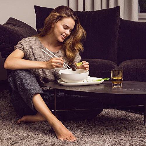 Villeroy & Boch Soup Passion Asia Schale / Praktische Suppenschüssel mit Stäbchen-Ablage / Spülmaschinenfest / Für 1 Person / Ø 20,5cm - 8