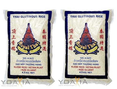 2er-SPARPACK – Royal Thai [2x 4,5kg] Klebreis, Glutinous Rice, Klebereis -