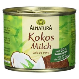 Alnatura Bio Kokosmilch, vegan, 12er Pack (12 x 200 ml) - 1