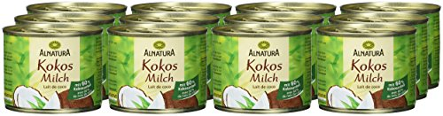 Alnatura Bio Kokosmilch, vegan, 12er Pack (12 x 200 ml) - 2