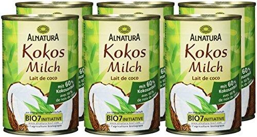 Alnatura Bio Kokosmilch, vegan, 6er Pack (6 x 400 ml) - 2