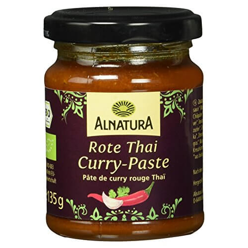 Alnatura Bio Rote Thai-Curry-Paste, 6er Pack (6 x 135 g) - 1