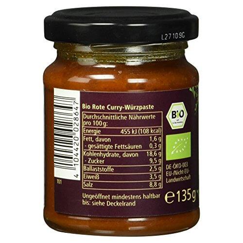 Alnatura Bio Rote Thai-Curry-Paste, 6er Pack (6 x 135 g) - 6