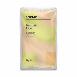 Amazon- Marke: Solimo  Basmati- Reis 4er-Pack (4x1kg) - 1
