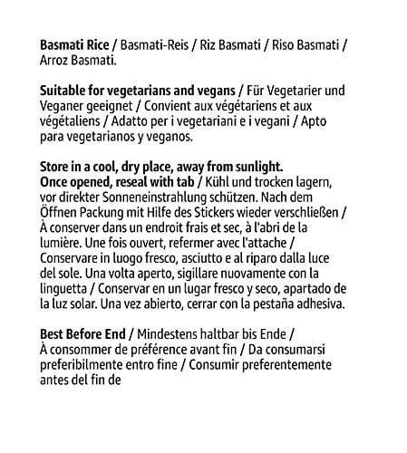 Amazon- Marke: Solimo  Basmati- Reis 4er-Pack (4x1kg) - 4