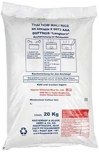 AROY-D Duftreis Langkorn 100%, 1er Pack (1 x 20 kg) - 3