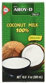 AROY-D Kokosmilch (Fettgehalt ca. 19% - Ideal zum Kochen, Backen, für Desserts und Cocktails) 8er Vorteilspack à 500ml - 1