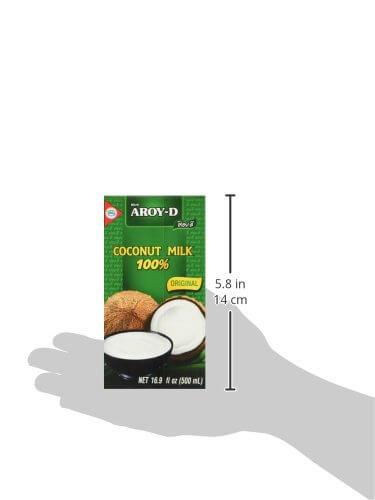 AROY-D Kokosmilch (Fettgehalt ca. 19% - Ideal zum Kochen, Backen, für Desserts und Cocktails) 8er Vorteilspack à 500ml - 5