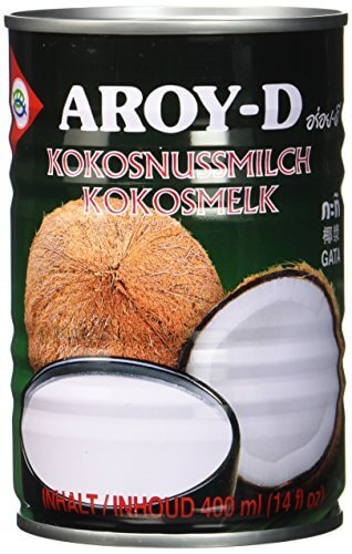 Aroy-D Kokosnussmilch, Fettgehalt: ca. 17%, 12er Pack (12 x 400 ml Packung) - 1