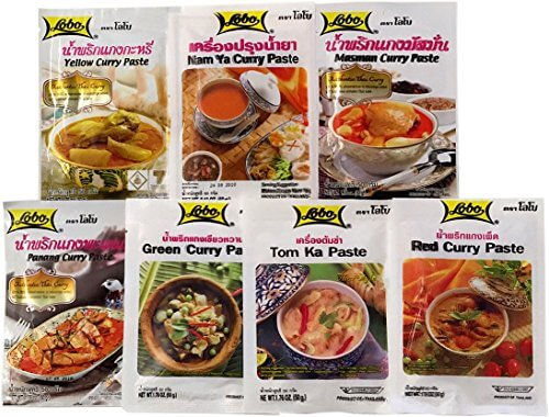 Asiafoodland - Lobo Curry Geschenk Set - 7 Sorten + gratis Stevia Stick - 1