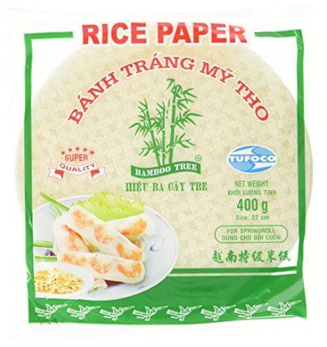 BAMBOO TREE Reispapier, rund, 22 cm, 4er Pack (4 x 400 g) - 1