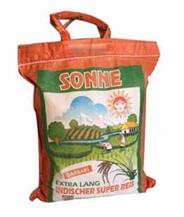 Basmati Reis Sonne Extra Lang Khorshid Darbari 10 KG super langkorniger Reis basmatirice Traditional Basmati, Indien, Himalaya - 1