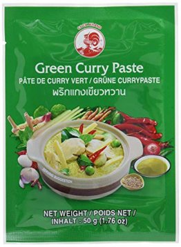 Cock Brand - 5 verschiedene Curry Pasten je 50g (Rote, Gelbe, Grüne, Panang, Matsaman) - 1