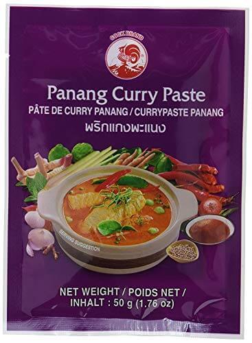 Cock Brand - 5 verschiedene Curry Pasten je 50g (Rote, Gelbe, Grüne, Panang, Matsaman) - 4