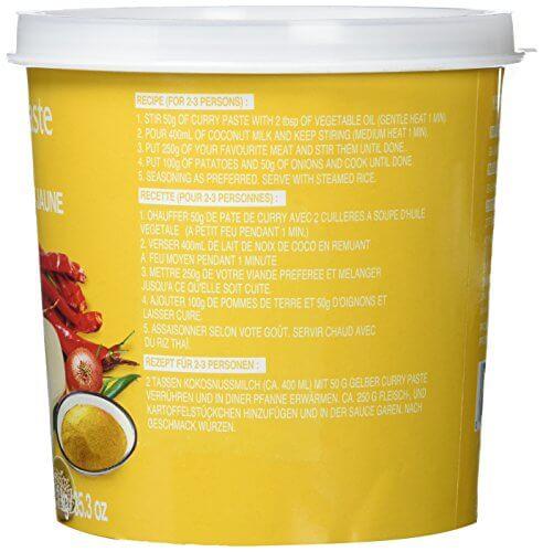 Cock Currypaste, gelb, 1er Pack (1 x 1 kg Packung) - 4