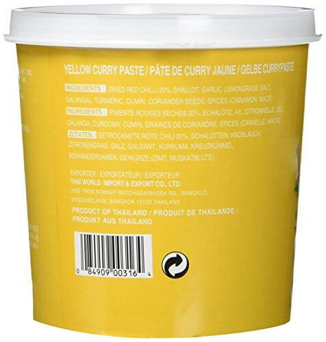 Cock Currypaste, gelb, 1er Pack (1 x 1 kg Packung) - 5