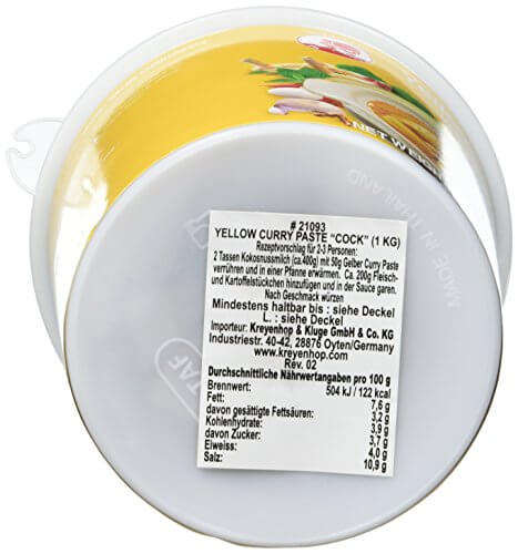Cock Currypaste, gelb, 1er Pack (1 x 1 kg Packung) - 6