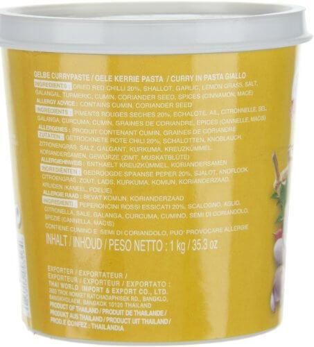 Cock Currypaste, gelb, 1er Pack (1 x 1 kg Packung) - 8