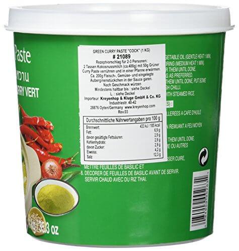 Cock Currypaste, grün, 1er Pack (1 x 1 kg Packung) - 4