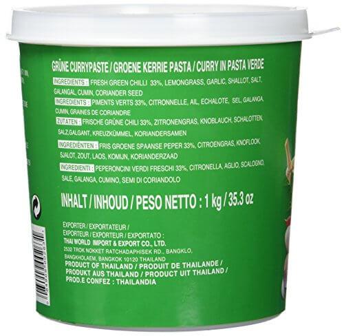 Cock Currypaste, grün, 1er Pack (1 x 1 kg Packung) - 5