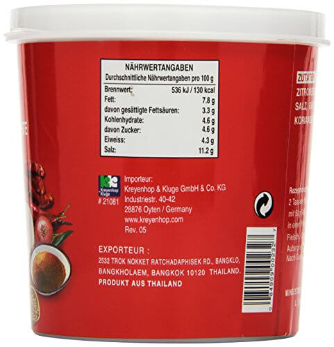 Cock Currypaste, rot, 1er Pack (1 x 1 kg Packung) - 4