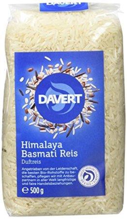 Davert Himalaya Basmati Reis weiß, 4er Pack (4 x 500 g) - Bio - 1