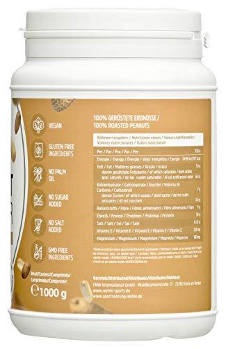 Erdnussbutter Natürliche Peanutbutter Ohne Zusätze. Erdnussmus Ohne Salz, Zucker, Palmfett - Wehle Sports (Smooth, 1 KG) - 2