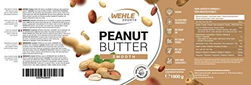 Erdnussbutter Natürliche Peanutbutter Ohne Zusätze. Erdnussmus Ohne Salz, Zucker, Palmfett - Wehle Sports (Smooth, 1 KG) - 4