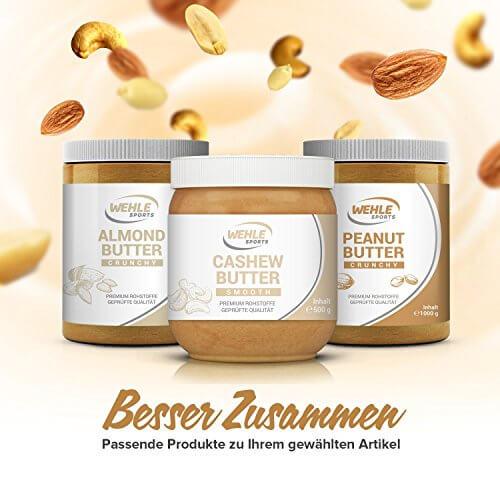 Erdnussbutter Natürliche Peanutbutter Ohne Zusätze. Erdnussmus Ohne Salz, Zucker, Palmfett - Wehle Sports (Smooth, 1 KG) - 5