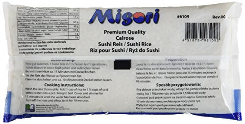 Misori Calrose Reis / Sushi Reis, 4er Pack (4 x 1 kg) - 4