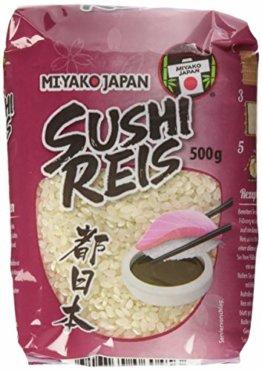 MIYAKO Sushi Reis, Rundkorn, 8er Pack (8 x 500 g) - 1