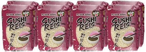 MIYAKO Sushi Reis, Rundkorn, 8er Pack (8 x 500 g) - 2