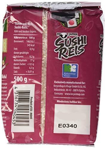 MIYAKO Sushi Reis, Rundkorn, 8er Pack (8 x 500 g) - 4