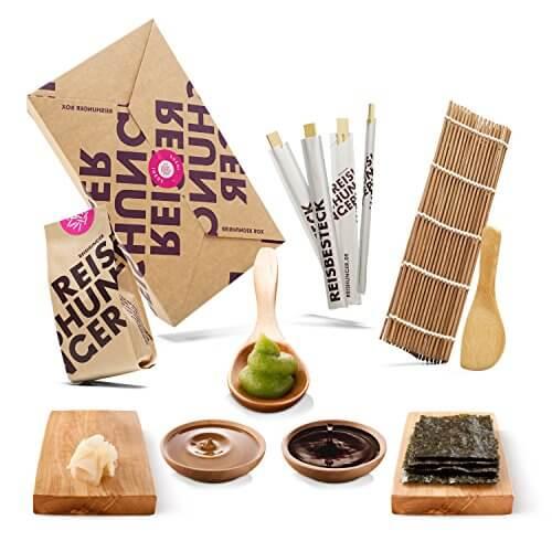Reishunger Sushi Box (8-teilig, für bis zu 4 Personen) Komplett-Set mit Original Japanischen Zutaten – perfekt auch als Geschenk - 1