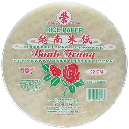 Reispapier (Frühlingsrolle Wickel) 22cm 400g by Banh Trang - 1