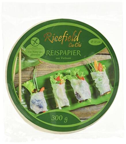Ricefield Reispapier, rund, 22 cm, 1 Pack (300 g Packung) - 1