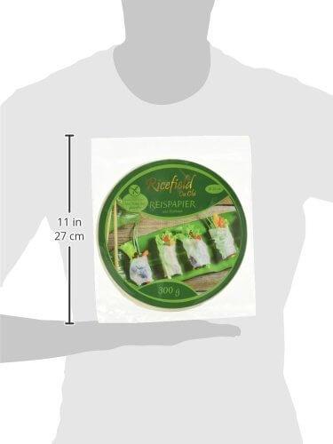 Ricefield Reispapier, rund, 22 cm, 1 Pack (300 g Packung) - 5