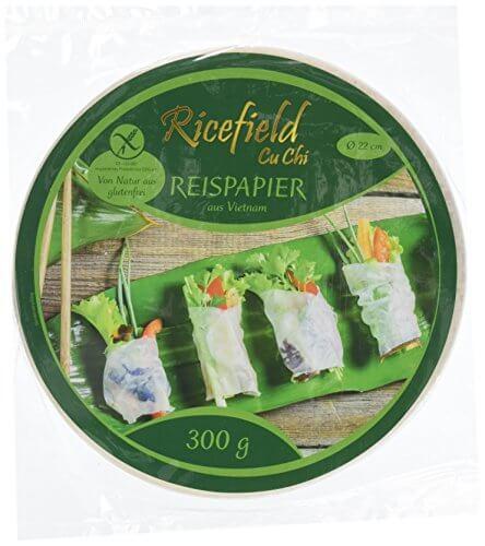 Ricefield Reispapier, rund, 22 cm, 300 g Packung - 1