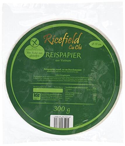 Ricefield Reispapier, rund, 22 cm, 300 g Packung - 4