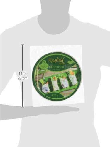 Ricefield Reispapier, rund, 22 cm, 300 g Packung - 5