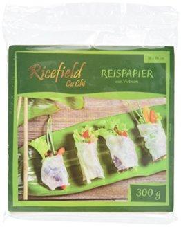 Ricefield Reispapier, viereckig, 16 cm, 4er Pack (4 x 300 g Packung) - 1