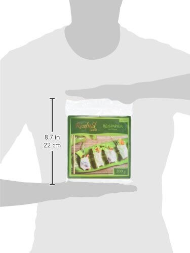 Ricefield Reispapier, viereckig, 16 cm, 4er Pack (4 x 300 g Packung) - 6