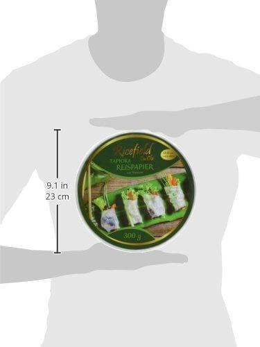 Ricefield Tapioka-Reispapier, rund 22 cm, Premiumqualität, 2er Pack (2 x 300 g Packung) - 6