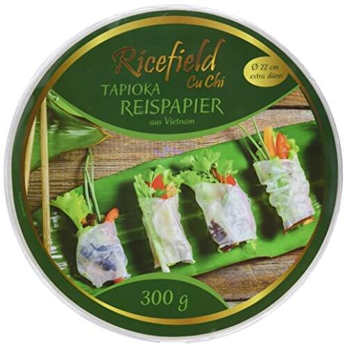 Ricefield Tapioka-Reispapier, rund 22 cm, Premiumqualität, 2er Pack (2 x 300 g Packung) - 1